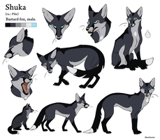 Reference Sheet - Shuka by BlueHunter