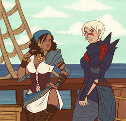 Dragon Age 2- A Pirate Queen and her Champion by Jessiphia