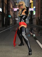 Ms Marvel pose 08 by DahriAlGhul