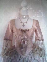 silk gown with antique lace by pinkishwhite