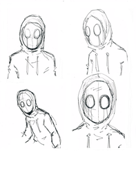 Eyeless Jack sketches by Dark-Eyed-Junco