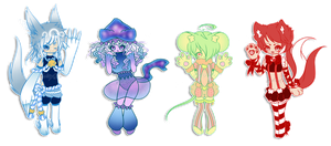 .:RE:MIXED ADOPTABLES (CLOSED):. by GloryCat