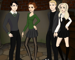 Deatheaters Gender Bent by kaileyrox
