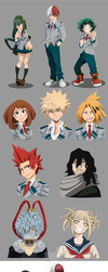 My hero academia stickers by Lutessius