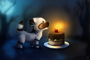Lifeon's Birthday Present 2014 by VexiWolf