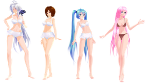 MMD Model Pack: Random TDA Swimsuit Models by K-Manoc1