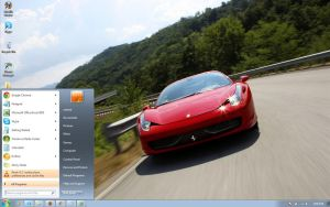 Ferrari-458-Italia-2 windows 7 theme by windowsthemes