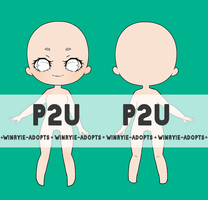 [P2U] Front+Back Adopt Base | 100points by winryie-adopts