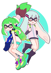 Squid miku and gumi!! by ochuuhi