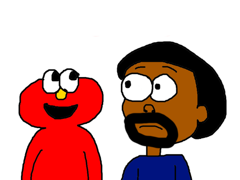 Elmo and Ice Cube Meeting Each Other by MikeEddyAdmirer89