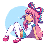 You'll carry my books for me, right? (Giffany) by froggsalt