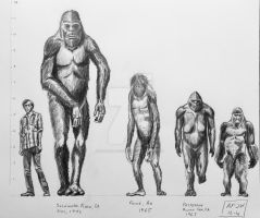 BigFoot (Sasquatch) Lineup by Franz-Josef73