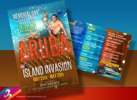 Aruba Island Ad Flyer 2 by AnotherBcreation