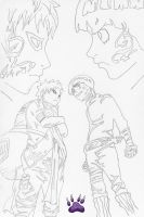 Chunin Exam Rock Lee Vs Gaara by l3xxybaby