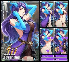 Lady Brighid (Xenoblade Chronicles 2) PACK by Sano-BR