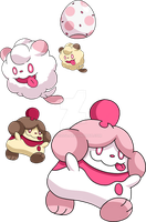 684 and 685 - Swirlix Evolutionary Family
