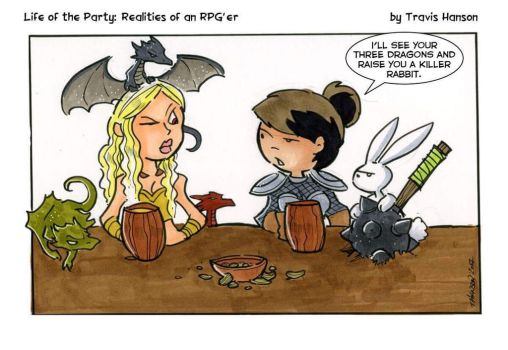 Mother of dragons vs mother of rabbits by travisJhanson