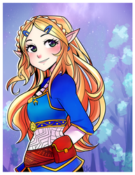 Princess Zelda by RedReveries