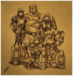 ROBOTECH: TNG group pic by iq40