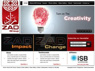 Creation website layout by shadicasper