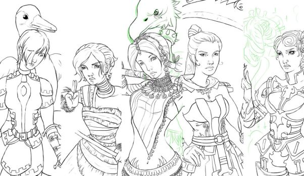 Guild Wars Girls by Drakenoom