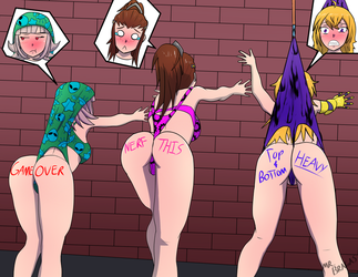 Fairytaler Contest Entry - Wedgie Wall Gals by MrBragas