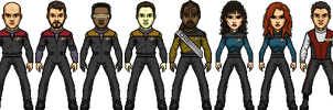 Star Trek Generations Cast by SpiderTrekfan616