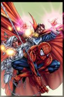 Avenging spiderman cover by vic55b