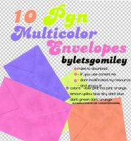 10 Pgn Multicolor Envelopes by Letsgomiley