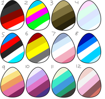 Color Palette Egg Adopts :CLOSED:. by QualiT-Adopts