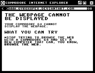 Commodore Internet Explorer by GyroxOpex