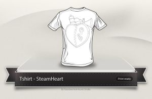 SteamHeart t-shirt by Tooschee