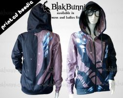 Printed hoodie Eros Yuri on ice by BlakBunni