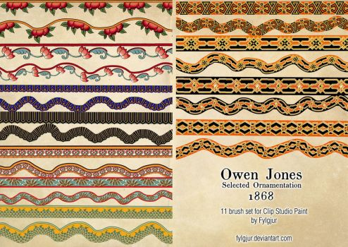 Owen Jones Brush Set by Fylgjur