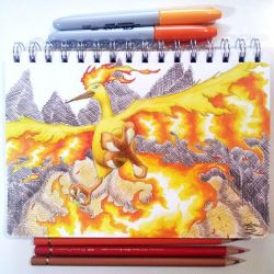Moltres by Abz-Art