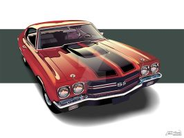 1970 Chevrolet Chevelle SS by CRWPitman