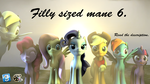 [DL] Filly sized mane 6 pack. by SfManiac
