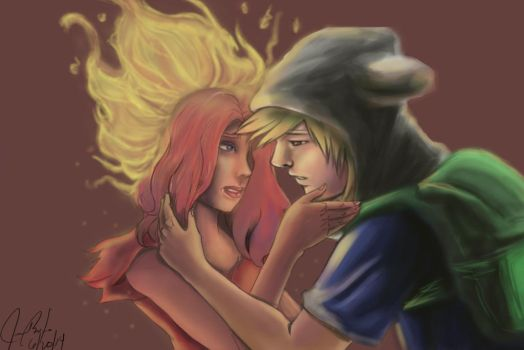 Adventure Finn and Flame Princess by ts2nd