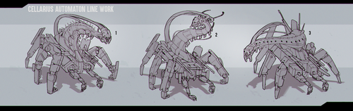 Automaton Concepts - Linework by Eden-West