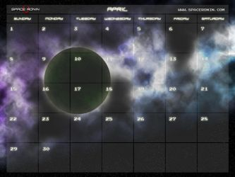 April Space Calender 2010 by thespaceronin