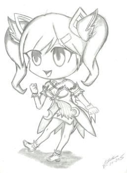 Chibi Dimension Witch - Sketch by Seiryukun