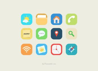 Download Free Vector Flat Icons (Freebie) by Dreamstale