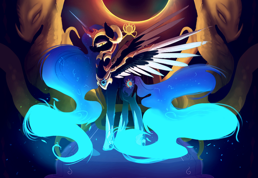 nightmare moon  daybreaker fusion by nutty-stardragon
