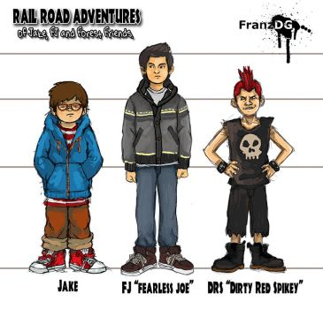 Rail Road Adventures! concept character sheet. by FranzDG