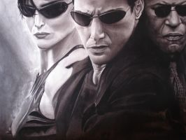 The matrix charcoal drawing by cardman