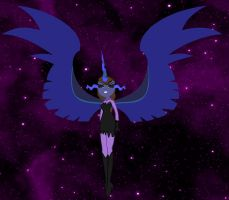 Total Eclipse the Eldritch queen of horror by elfmoon3