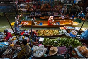 Thailand | Floating market by lux69aeterna
