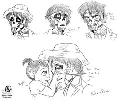 Coco: Hector Sketches by Aileen-Rose