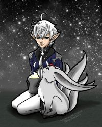 Alphy and Moon Carbuncle FF14 by Lindsay-N-Poulos
