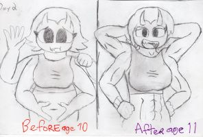 Holiet Wanders 30 Day Art - Day 2: Before/After by RacketFewl